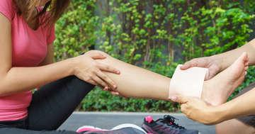 足首を捻ったときに知っておくとよいこと:RICE処置などについての写真