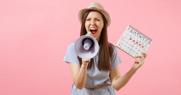 そのイライラ、月経前症候群(PMS)かも:生理前の不調に悩む女性と、周りの人への写真