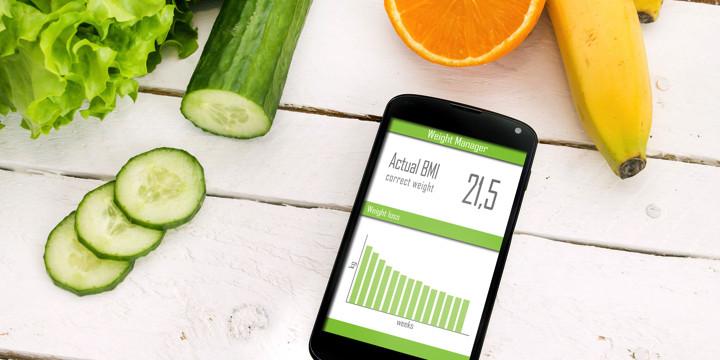 スマホアプリを使った生活管理で体重が減ったの写真