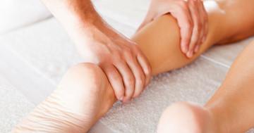 膝関節症の手術後はリンパマッサージで膝の曲がりを良く、人工膝関節全置換術後の効果の写真