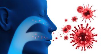 インフルエンザと一緒に感染した細菌が肺炎を起こすの写真