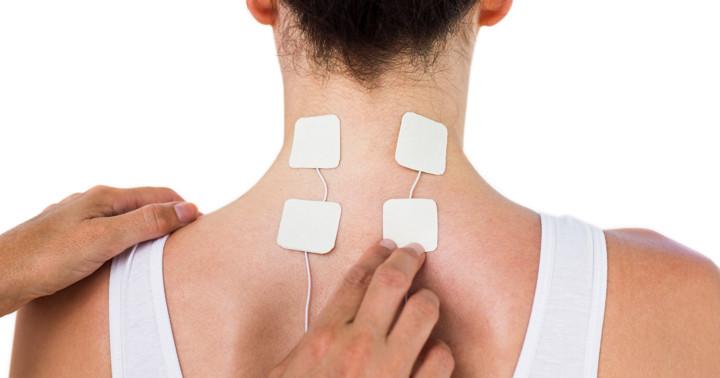 甲状腺の手術後の首の痛みに電気刺激が有効の写真