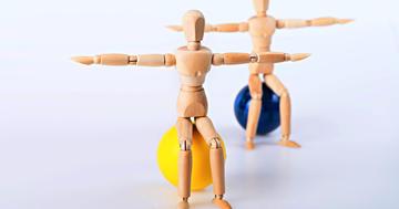 膝や股関節の手術後、リハビリに追加した運動でバランスが改善の写真