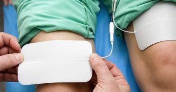 電気刺激で全人工膝関節置換術後の痛みが緩和する?の写真